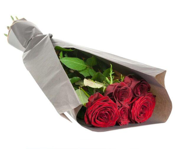 5 Rosas rojas