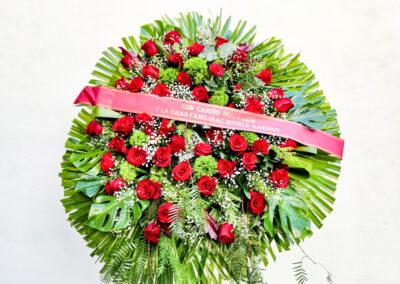 Corona de Rosas rojas