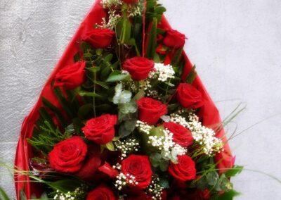 Ramo funerario de 18 Rosas